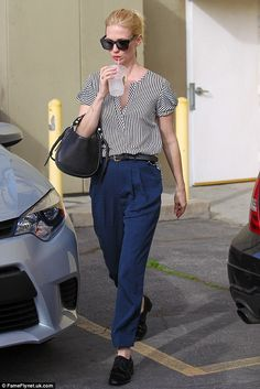 January Jones looked effortlessly chic as she stepped out in Brentwood, Los Angeles, on Tuesday