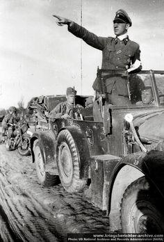 """SS-Sturmbannführer"", Walter Bestmann, in his Horch 901 (Kfz.15). Russia, 1941."