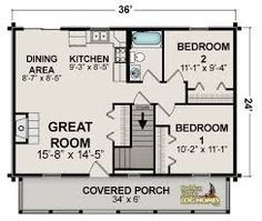 House Plans Under 1000 Square Feet Lovely Small House Plans Under 1000 Sq Ft Awesome Small House Floor Plans Garage Apartment Plans, Garage House Plans, Ranch House Plans, The Plan, How To Plan, Log Home Floor Plans, Small House Floor Plans, Small House Plans Under 1000 Sq Ft, Guest House Plans