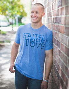 Share Faith, Hope and Love with this men's graphic tee! The perfect t-shirt that gives back for your summer style. Shop fashion for good at Store.timtebowfoundation.org. 100% of proceeds benefit the Tim Tebow Foundation.