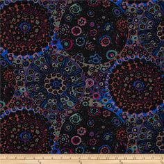 Designed by Kaffe Fassett for Westminster Fabrics, this cotton print is perfect for quilting, apparel and home decor accents. Colors include pink, blue, purple, olive and black.