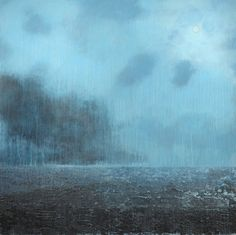 "Abby Kasonik Untitled Ocean - 2012 - 60 x 60"", acrylic & encaustic on hardboard, sold"