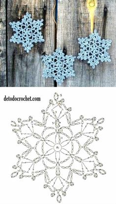 New Crochet Afghan Patterns Christmas Yarns Ideas Crochet Snowflake Pattern, Crochet Stars, Christmas Crochet Patterns, Holiday Crochet, Crochet Snowflakes, Afghan Crochet Patterns, Thread Crochet, Crochet Motif, Crochet Doilies