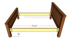 This step by step diy project is about full size bed frame plans. If you want to build a learn more about building a full size bed with a simple design, which is ideas for woodworking beginners, pay attention to this project.