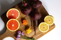 This raw beet salad with an orange vinaigrette will have you licking the bright pink juice right off your plate!