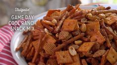 Check out what I found on the Paula Deen Network! Game Day Cool Ranch Snack Mix http://www.pauladeen.com/game-day-cool-ranch-snack-mix