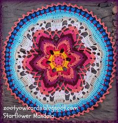 Zooty Owl's Crafty Blog: Starflower Mandala: Row by Row