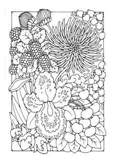 Malvorlage Blumen. Bilder für Schule und Unterricht: Blumen - Ausmalbild - Bild zum Ausmalen - Zeichnung. Abb. 27747.