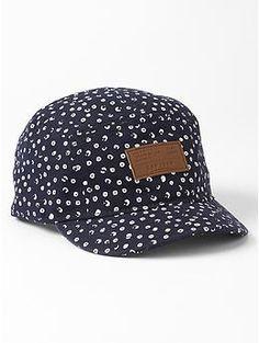 Printed five-panel hat