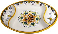 Ceramic Maiolica Oval Antipasto Serving Tray Dish 26cm - It's that time of year for entertaining!  Love!