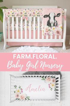 Cowgirl Nursery, Cow Nursery, Farm Animal Nursery, Girl Nursery Themes, Nursery Artwork, Farm Themed Nursery, Nursery Ideas, Girl Nurseries, Nursery Room