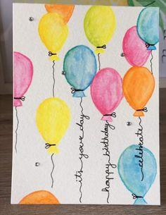 Verjaardagskaart: kleurrijk met ballonnen