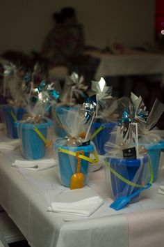 Kids Entertainment Packs for Beach Wedding Reception - coloring books, games, goldfish, etc.