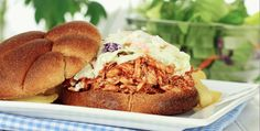 Slow Cooker Pulled Chicken Barbecue - Delicious!  www.GetCrocked.com