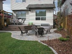 Calgary Garden Designs Gallery Like the transition from patio paver to landscaped area
