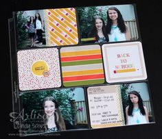 Project Life Seasonal Snapshot Back to School page ~ Cindy Schuster