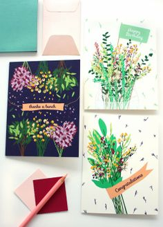 Floral Cards //Designs by Val