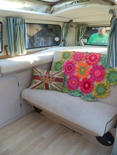 Camper flower blanket - amazing colours! No link :-(