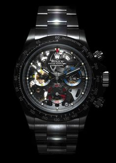 The World's First Skeleton-Dial Rolex Daytona Was Made for a Formula 1 Champion Rolex Watches For Men, Best Watches For Men, Luxury Watches For Men, Stylish Watches, Cool Watches, Personalized Gifts For Her, Skeleton Watches, Expensive Watches, Rolex Daytona