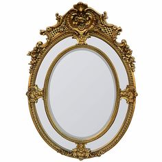 Gold Mistress Oval Mirror