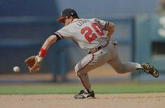 Mark Lemke with Atlanta Braves (1988–1997)