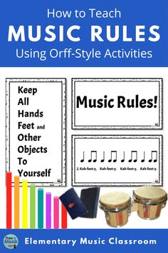 Orff Activities, Reading Activities, Reading Resources, Reading Skills, Classroom Rules, Music Classroom, Music Teachers, Music Education, Student Learning Objectives
