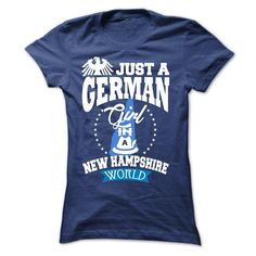 German girl in ̿̿̿(•̪ ) NEW HAMPSHIREAre you a German girl live in NEW HAMPSHIRE? Then this shirt is a must have. Get it now. german girl, german, germany, NEW HAMPSHIRE