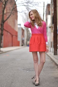 Love these bright colours for spring.  I want to wear this to the office everyday.
