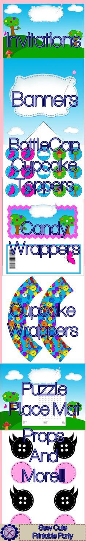 La La Loopsy Inspired Printable Party Kit - Sew Cute - $15.99 : ScrapPNG, Digital Craft Graphics