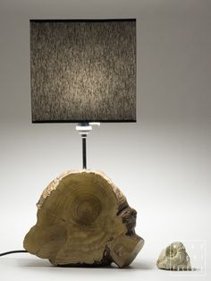 New table lamp from Wood Light Factory. Height 65 cm, width 35 cm.