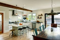 Kitchen & Bath Tips from an Expert - Time to Build article *For those who don't want upper cabinets