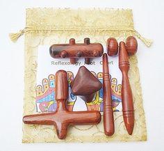 Set 5 pcs. Reflexology Thai Massage Wooden Stick Tool | eBay