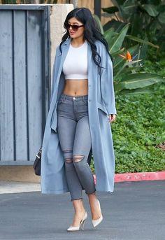 Kylie Jenner wears her ASOS coat again