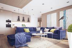 Синий диван в интерьере: 20 примеров – Вдохновение