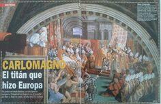 Coronacion de Carlomagno por el Papa