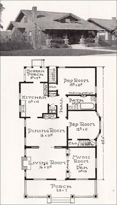 California Craftsman Bungalow House Plan - 1918 Representative California Homes - E. W. Stillwell