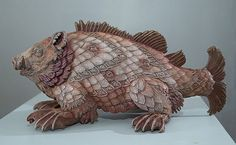 Bailey Henderson Sculpts Mythological Sea Monsters from Medieval Maps | Hi-Fructose Magazine