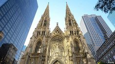 An exquisite example of American Gothic architecture, the white-marble St. Pat's first opened its doors in This impressively large midtown cathedral doesn't scrimp on design, outside or in. A pair of vaulted towers frame the main entrance; Chrysler Building, World Trade Center, Empire State Building, Lancaster, New York City, Places To See, Places Ive Been, American Gothic, Skyline