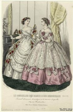 ball gowns, 1859