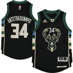 Youth Milwaukee Bucks Giannis Antetokounmpo adidas Black Alternate Swingman Jersey