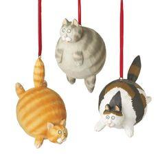 fat cat ornament cats christmas holiday christmas tree noel navidad http://www.meowganizer.com