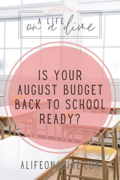 Kiddos are going back to school later this month and with that comes unique expenses. Is your budget prepared for those expenses? Click the link to to see if you missed any of these potential August expenses and make sure your budget is ready to go back to school!