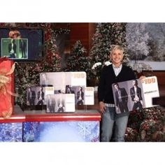 all of ellen 39 s12 days of christmas on shine yahoo on pinterest 12 days ellen degeneres and. Black Bedroom Furniture Sets. Home Design Ideas