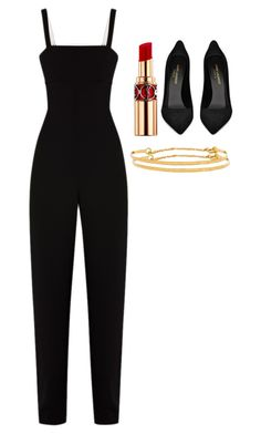 """""""Untitled #4078"""" by adi-pollak ❤ liked on Polyvore featuring Yves Saint Laurent, T By Alexander Wang and Gorjana"""