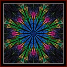 Fractal 436 cross stitch pattern by Cross Stitch Collectibles | Crafting | Cross-Stitch | Wall Hangings