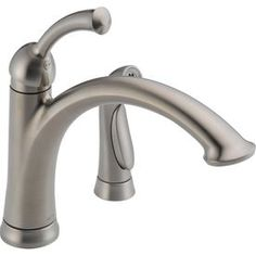 Delta Lewiston Stainless High-Arc Kitchen Faucet with Side Spray