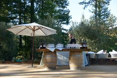 wine barrels, empti wine, parti