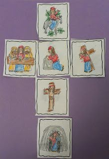 Easter: FREE Holy Week Sequencing cards and craft Students color, cut & glue the cards into a cross. Easter Art, Easter Crafts, Free Christian Clip Art, Religion Activities, Teaching Religion, Sequencing Cards, Story Sequencing, Easter Story, Cross Crafts