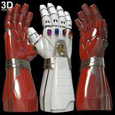Printable Model: Hulk's Nano Gauntlet Type 001 with Infinity Stones / Avengers Endgame Iron Man Hand, Thor Cosplay, Iron Man Armor, 3d Printable Models, Foam Armor, Custom Lego, 3d Prints, Joker Art, Movie Props