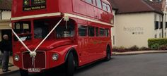 Guests at one of hogarths' weddings where treated to a trip down memory lane and taken to the church on time by a Midlands built Coachmaster London red bus. London Red Bus, Birmingham Nec, Weddings, News, Building, Holiday, Summer, Bodas, Vacations